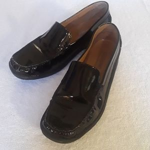 Docker Black Patent Leather Loafers